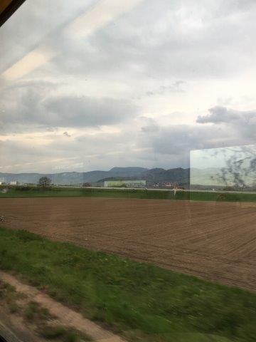 【1】アルザス地方の車窓