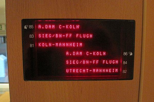ドイツ言葉 座席指定