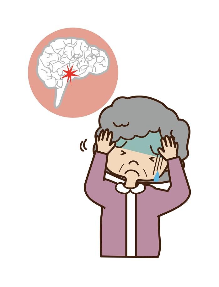 脳梗塞の女性