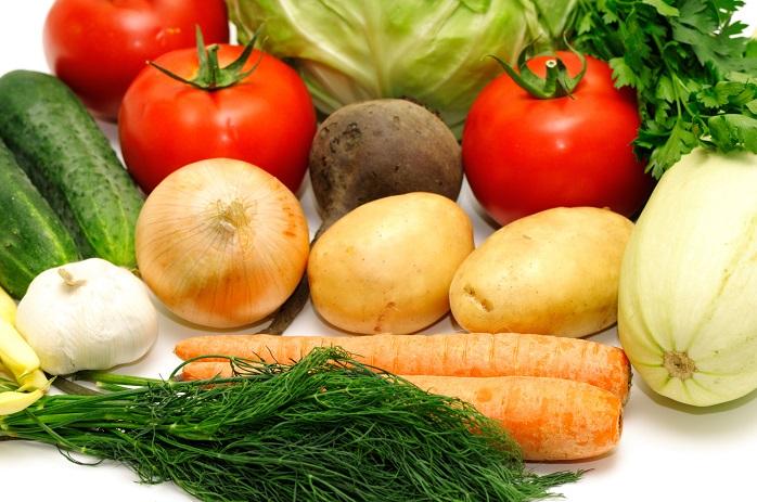 様々な種類の野菜の写真