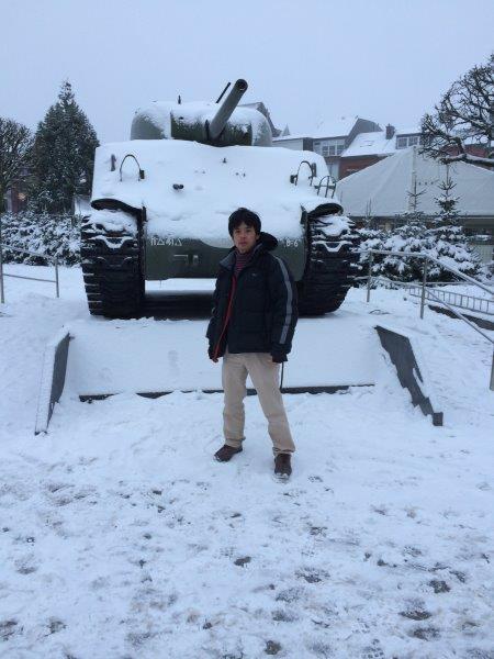 【4】戦車と著者のツーショット