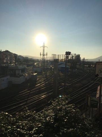【24】鉄橋からアンダイエ駅方面の風景