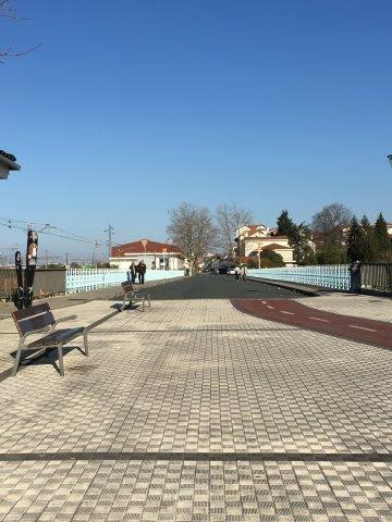 【20】スペイン国境側から撮影した国境歩道