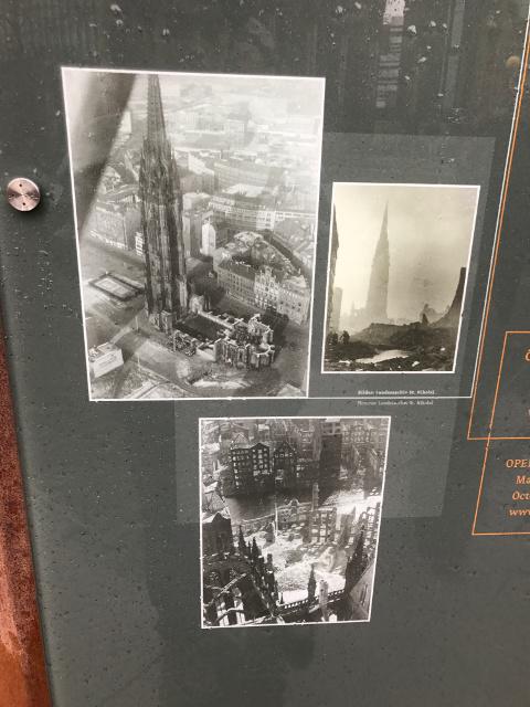 戦争直前のハンブルク港の様子