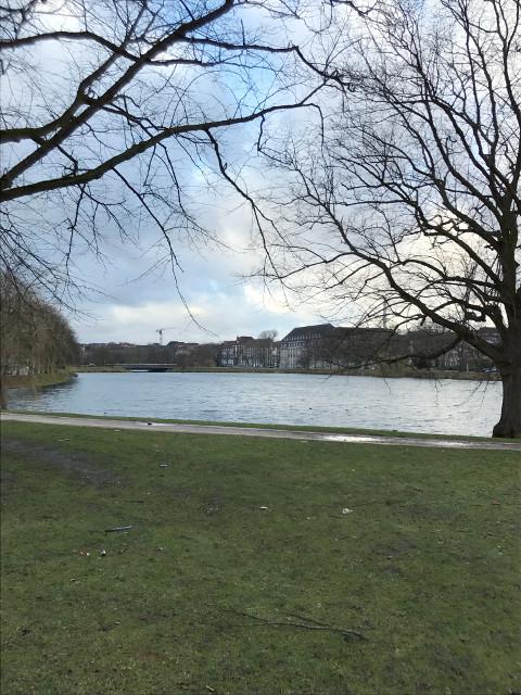 キール市民の憩い場となっている湖がある公園