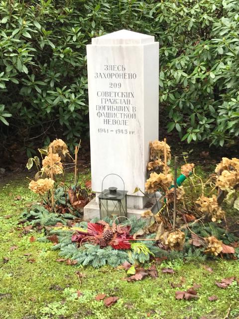 ソ連軍の兵士の墓