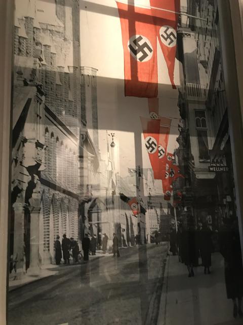 ナチス時代のブライテ通りの市庁舎付近