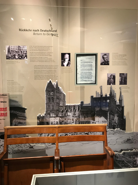 戦争直後のリューベックの様子を紹介した展示