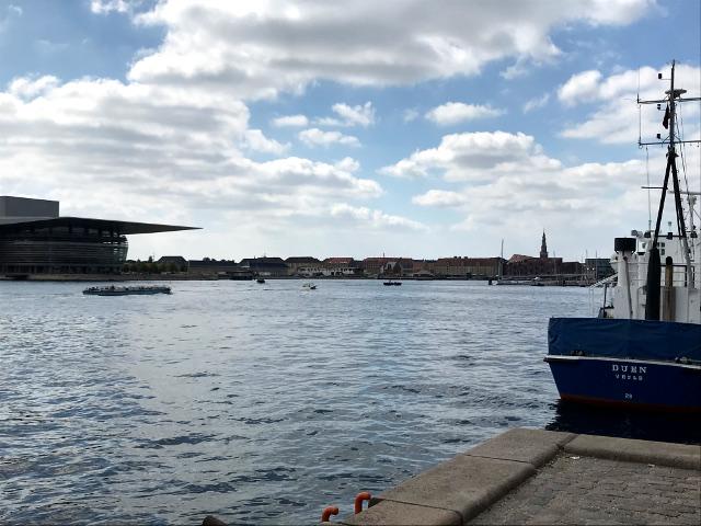 アメリエンボー宮殿の目の前は港
