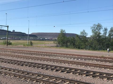 キールナの鉄鋼石が発掘される鉱山