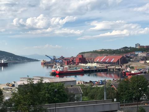 鉄鉱石が輸出されるナルヴィク港