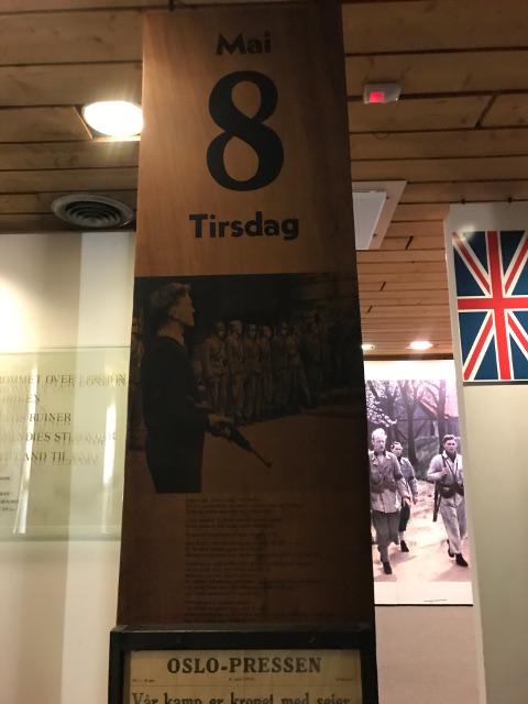 ノルウェーが解放された1945年5月8日の日めくりカレンダー