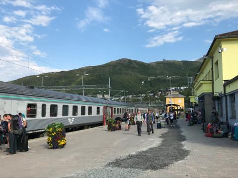 ヨーロッパ最北のナルヴィク駅