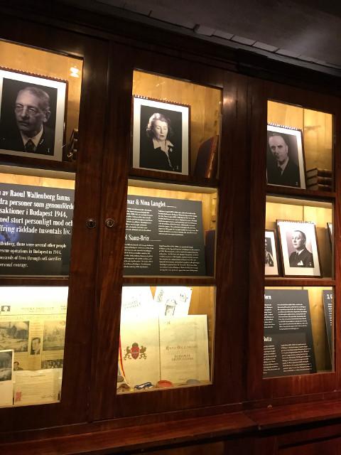 ワレンバーグと一緒にユダヤ人救出のために働いていた同僚たちの展示もある