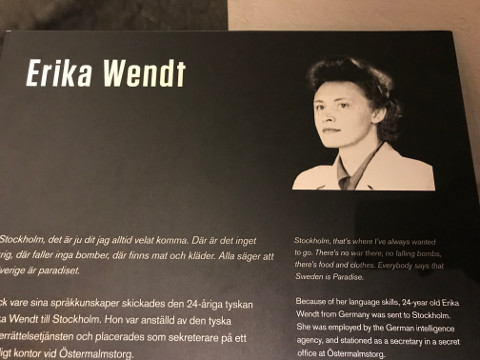 スウェーデンのスパイとなったドイツ人エリカ