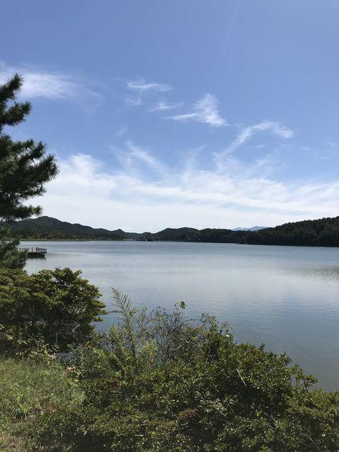 花津浦の湖