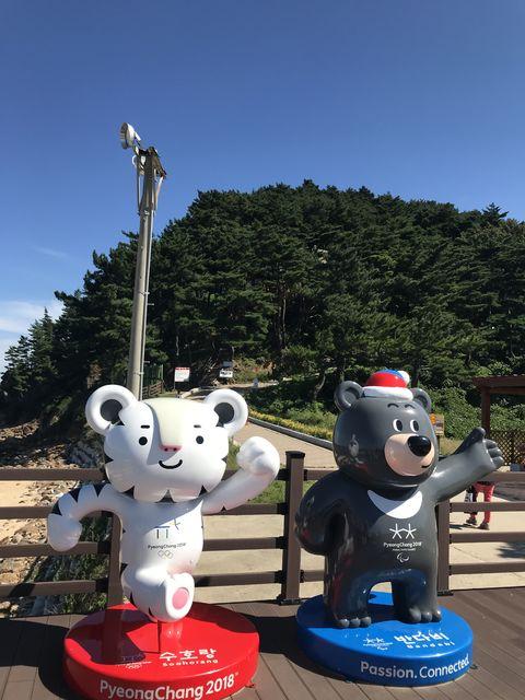平昌オリンピックのマスコットの後ろの山に金日成の別荘がある