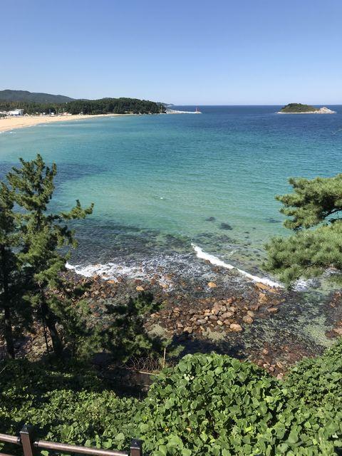 金日成の別荘から見える日本海