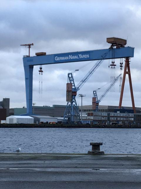 ドイツ海軍の本拠地、ドイツのキール港