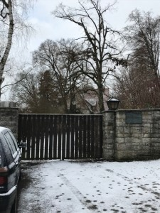 旧ロンメル邸。門から家は見えにくい