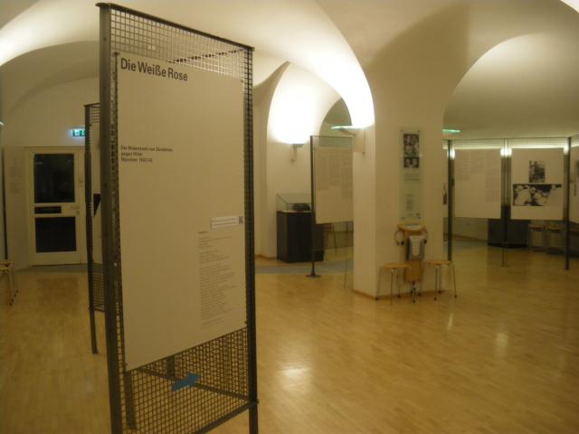 白バラ記念館の展示