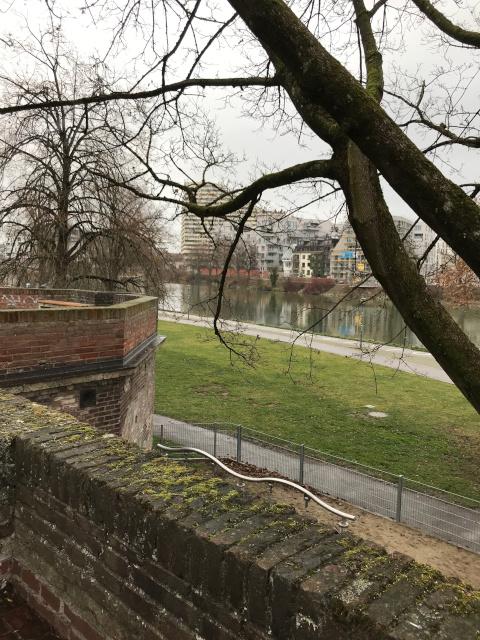 城壁から見えるドナウ川
