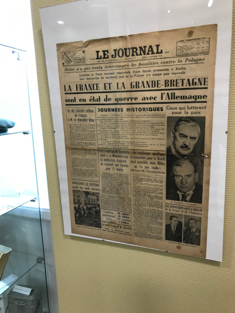 1939年9月3日当時のフランスの新聞