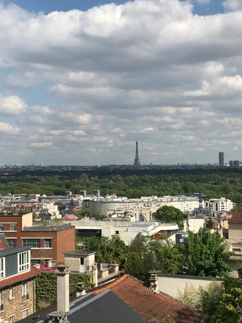 モンヴァレリアンの丘から見えるパリの風景