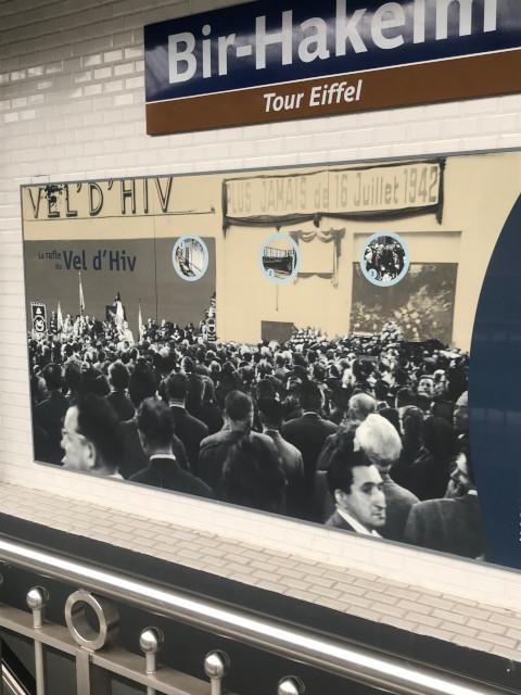 ビルアケム駅にあるヴェル・ディブ事件の式典の写真