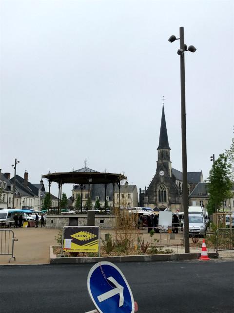 モントワール中心部の広場
