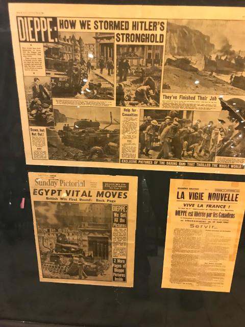 ディエップの戦いを報道する当時の新聞