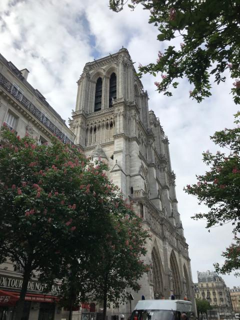焼失したパリのノートルダム大聖堂(2019年4月下旬撮影)