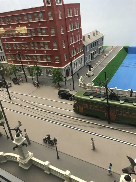 模型で再現された大連の日本人街