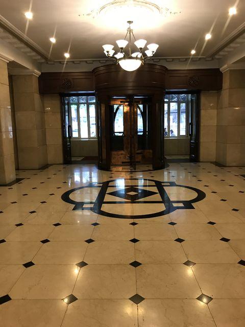 ハルビン駅前のホテル龍門大廈。満鉄が経営していた旧ヤマトホテル、張学良も宿泊
