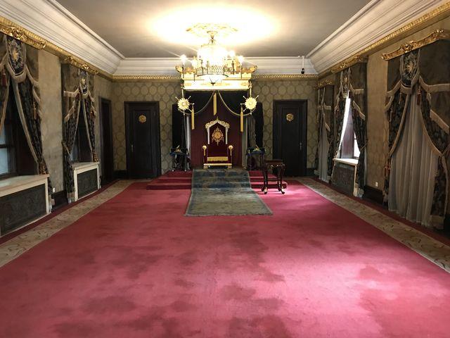 溥儀が皇帝に就任する時に、即位式典を行った