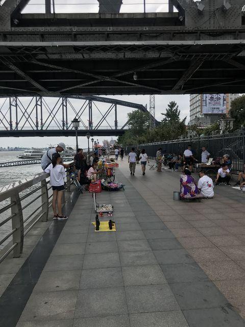 中朝友誼橋の真下の様子
