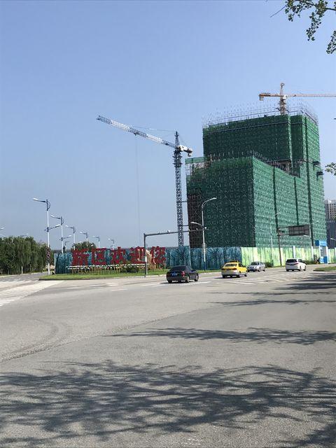 建設中の建物も目立つ丹東新区