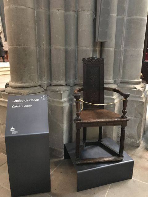 サン・ピエール大寺院にあるカルヴァンが座った椅子