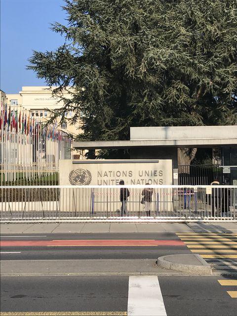 ジュネーブの国際連合の入口