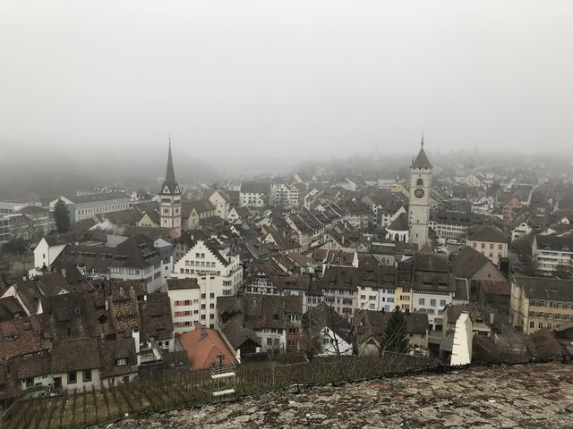 城壁から眺めたシャフハウゼンの街