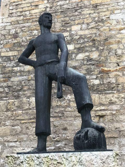 ダヴィデの像の表情