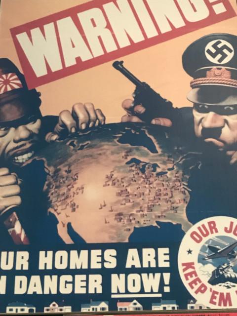 アメリカの枢軸国を警戒するプロパガンダポスター