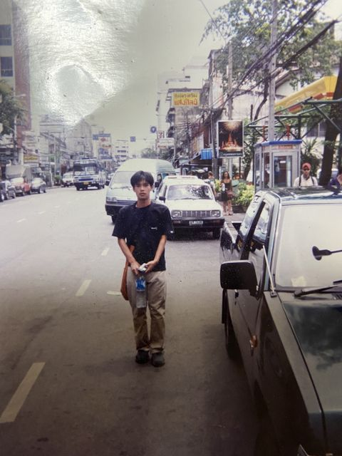 東南アジアを初めて周った時の筆者。タイのバンコクにて